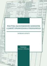 Polityka rachunkowości jednostki - okładka książki