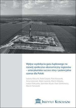 Wpływ wydobycia gazu łupkowego - okładka książki