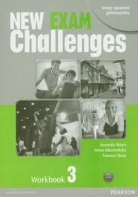 New Exam Challenges. Workbook 3. Nowy egazmin gimnazjalny (+ CD) - okładka podręcznika