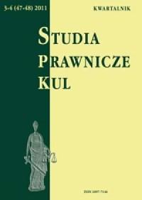 Studia prawnicze KUL, 3-4(47-48)/2011 - okładka książki