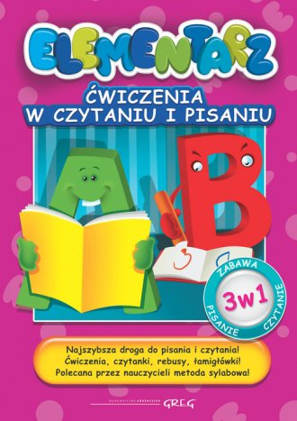 Elementarz. Ćwiczenia w czytaniu - okładka podręcznika
