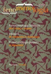 Fenomenologia nr 4/2006 - okładka książki