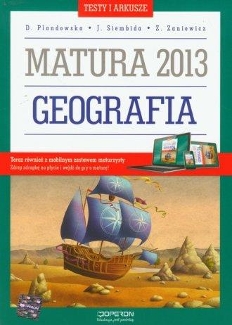 Geografia. Testy i arkusze. Matura - okładka podręcznika