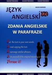 Zdania angielskie w parafrazie. Zbiór praktycznych zadań gramatyczno-leksykalnych - okładka podręcznika