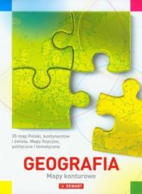 Geografia. Mapy konturowe - Wydawnictwo - okładka książki