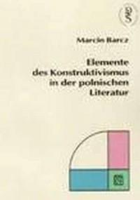 Elemente des Konstruktivismus in - okładka książki
