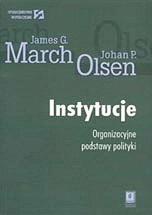 Instytucje. Organizacyjne podstawy - okładka książki