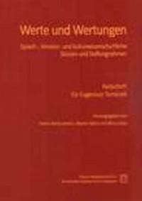 Werte und Wertungen. Sprach-, literatur- - okładka książki