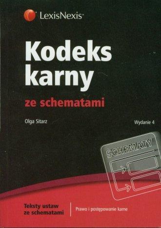 Kodeks karny ze schematami - okładka książki