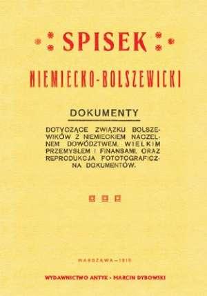 Spisek niemiecko-bolszewicki. Dokumenty - okładka książki