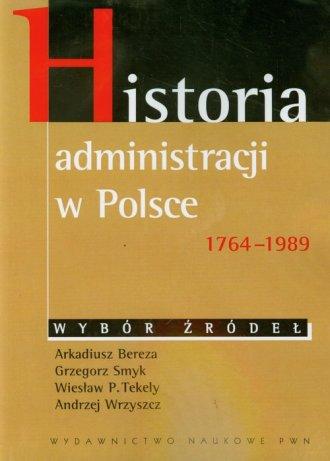 Historia administracji w Polsce - okładka książki