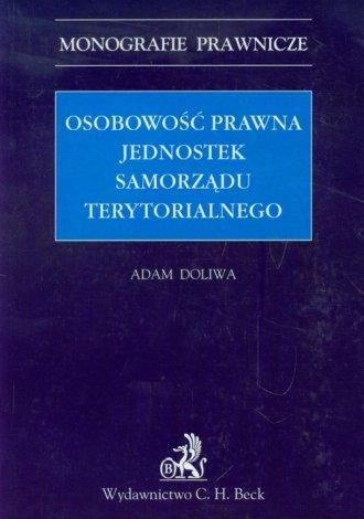 Osobowość prawna jednostek samorządu - okładka książki