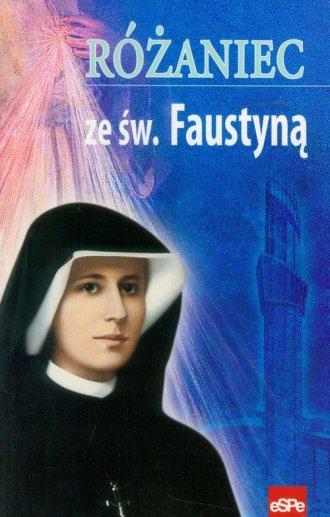 Różaniec ze św. Faustyną - okładka książki