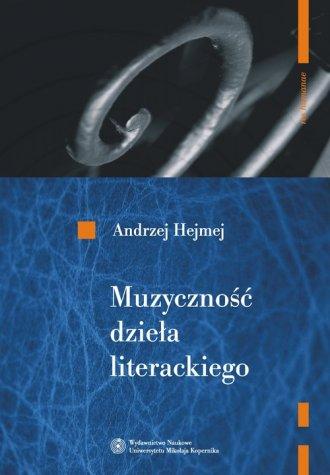 Muzyczność dzieła literackiego - okładka książki