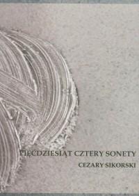 Pięćdziesiąt cztery sonety - okładka książki