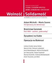 Wolność i Solidarność 4/2012. Studia z dziejów opozycji wobec komunizmu i dyktatury - okładka książki