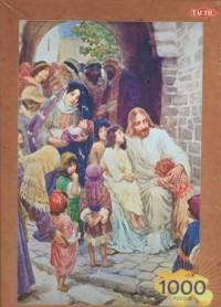 Jezus błogosławi dzieci (puzzle 1000 elementów) - zdjęcie zabawki, gry