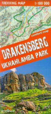 Drakensberg Ukhahlamba Park trekking map (skala 1: 100 000) - okładka książki