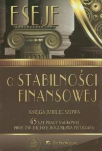 Eseje o stabilności finansowej. - okładka książki