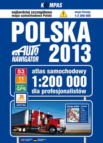 Polska. Atlas samochodowy dla profesjonalistów - okładka książki
