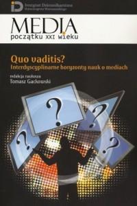Quo vaditis? Interdyscyplinarne - okładka książki