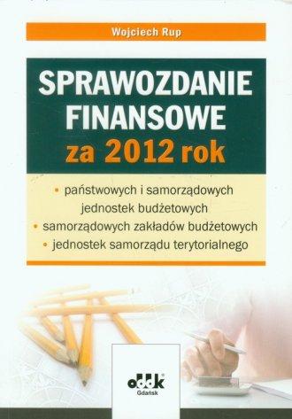 Sprawozdanie finansowe za 2012 - okładka książki