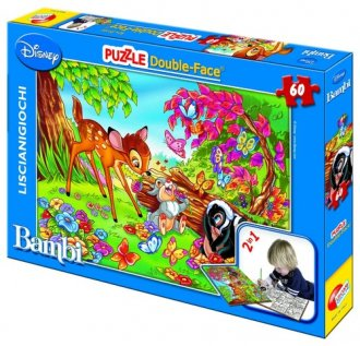 bambi (puzzle dwustronne 2 w 1 - zdjęcie zabawki, gry