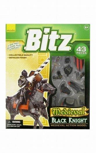 Czarny rycerz na koniu (puzzle - zdjęcie zabawki, gry