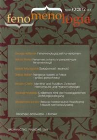Fenomenologia nr 10/2012 - okładka książki