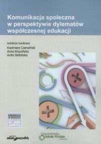 Komunikacja społeczna w perspektywie - okładka książki