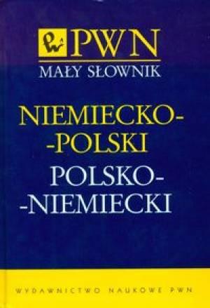 Mały słownik niemiecko-polski, - okładka podręcznika