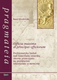 Officia maxima et principes officiorum. - okładka książki