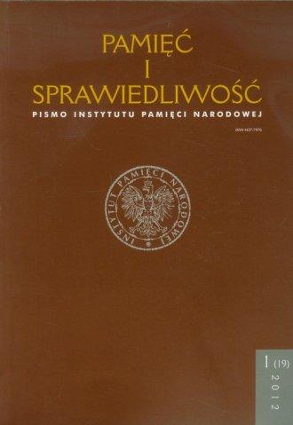 Pamięć i sprawiedliwość nr 1(19)/2012 - okładka książki