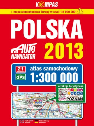 Polska 2013. Atlas samochodowy - okładka książki