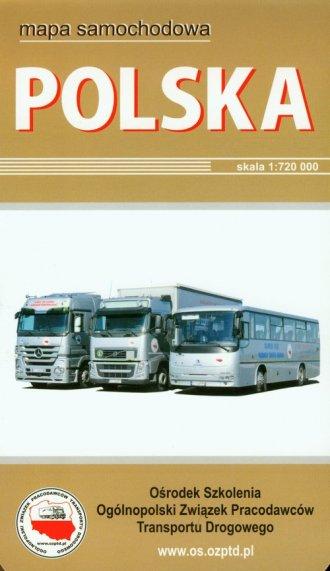 Polska. Mapa samochodowa - okładka książki