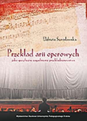 Przekład arii operowych jako specyficzne - okładka książki
