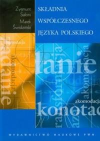 Składnia współczesnego języka polskiego - okładka książki