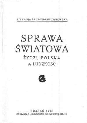 Sprawa światowa. Żydzi, Polska - zdjęcie reprintu, mapy