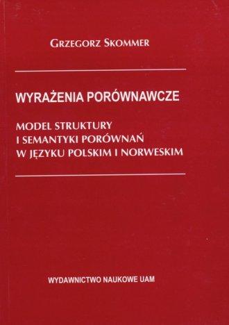 Wyrażenia porównawcze. Model struktury - okładka książki