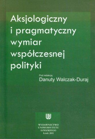 Aksjologiczny i pragmatyczny wymiar - okładka książki