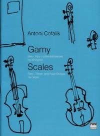 Gamy. dwu- trzy- i czterooktawowe na skrzypce - okładka książki
