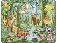 Las europejski (puzzle - 40 elem.) - zdjęcie zabawki, gry
