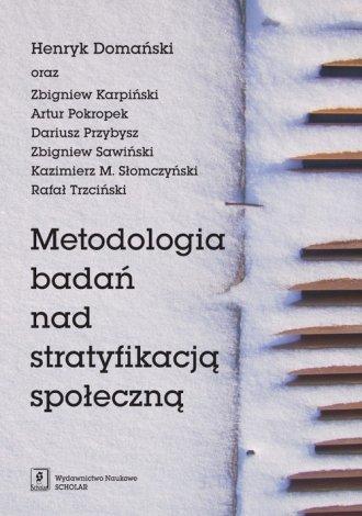 Metodologia badań nad stratyfikacją - okładka książki