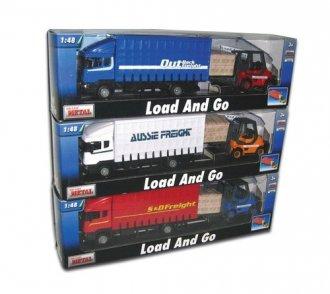 Samochód ciężarowy Scania i wózek - zdjęcie zabawki, gry