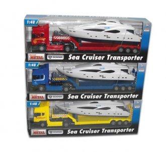 Samochód ciężarowy Scania laweta - zdjęcie zabawki, gry
