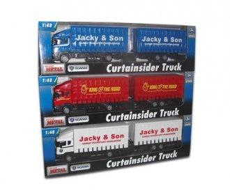 Samochód ciężarowy Scania z przyczepą - zdjęcie zabawki, gry