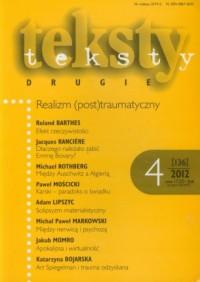 Teksty drugie 4/2012 - okładka książki
