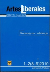 Artes Liberales 1-2(8-9) 2010. Romantyzm i edukacja - okładka książki