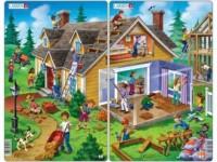 Dom (puzzle - 2x30 elem.). PAKIET - zdjęcie zabawki, gry