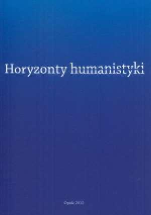 Horyzonty humanistyki - okładka książki